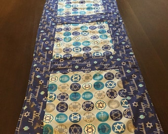 Hanukah table runner