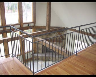 Interior and exterior wrought iron railings, vermont railings