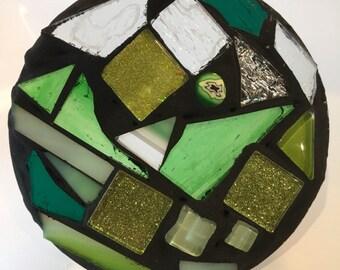 Seconds- sale- experimental mosaic- green