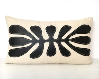 Black and White Pillow Cover - Tribal Pillow Cover
