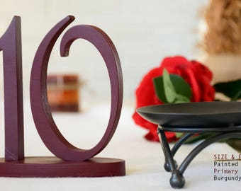Painted Table Number, Wedding Reception Table, SET 1-20
