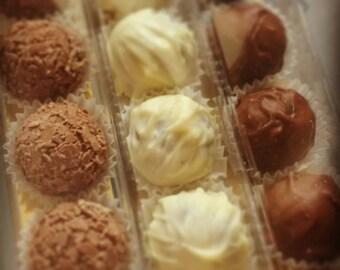 Handmade belgian chocolate truffles. choose from rum, baileys Irish cream, salted caramel