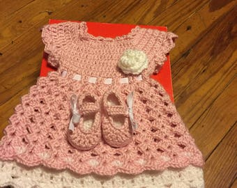 Crochet Baby Dress Made to order