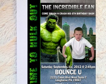 Hulk Invitation, Hulk Birthday Invitation (for any ages), Hulk Party Invite, Hulk Printable, Incredible Hulk Party
