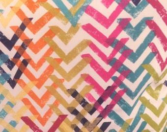 "18"" Multi-Color Chevron Accent Pillow Cover, 18"" Toss Pillow, Decorative Envelope Throw Pillow Cover, Cotton"