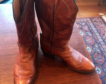 Pair of Vintage Tony Lama Cowboy Boots - Mens Size 9 EEE