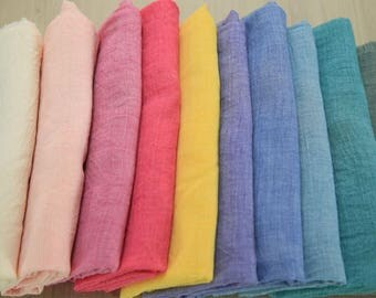 Gauze Fabric in 10 Colors By The Yard