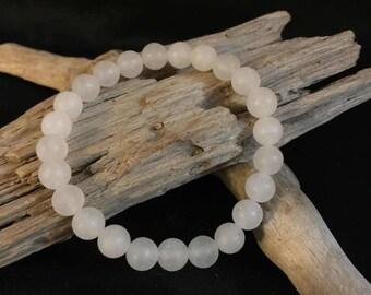 Frosted White Jade bracelet