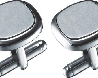 Cufflinks Personalized, Groomsmen Cufflinks, Engraved Cuff Links, Groom Cufflinks, Wedding Cufflinks, Personalized CuffLinks - VCUFF716
