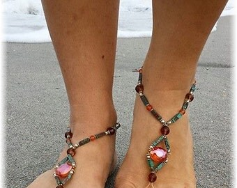 Handmade Island Barefoot Sandals Foot Jewelry