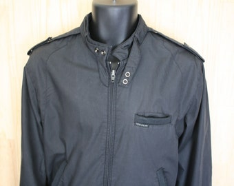 Peter England Bomber Jacket/ Men's Vintage Peter England Racing Jacket/ c. 1980s/ Size M