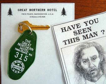 Twin Peaks Great Northern Key Fob + Stationary + Bob Print - Murder Mystery