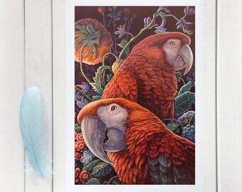 Parrot Garden - Giclée Print
