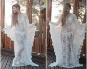 Kaftan Dress, Beach Dress, Wedding Lingerie, honeymoon dress,lace Tunic, bridal lingerie,maxi dress, Jalabiya, Beach cover ups, beach kaftan