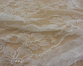 "Good quality Chantilly Eyelash Lace Fabric in white  for Wedding Gowns,3 Yards*59"" white eyelash lace fabric, black eyelash lace fabric-T006"