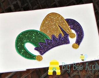 Mardi Gras Applique Design Embroidery