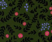 Wonderland -- Rose Garden in Moss Metallic by Rifle Paper Company for Cotton and Steel