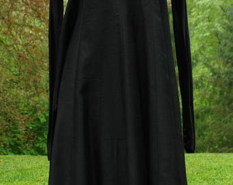 Silk and Cotton Blend  Black Dress