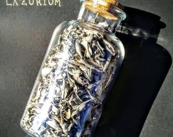 Handpicked loose leaf white sage in large glass jar with cork