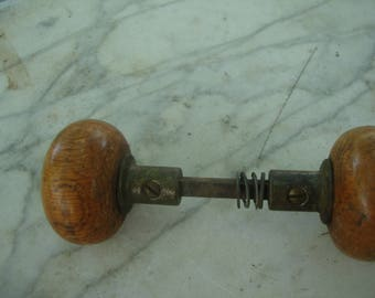 antique wooden door knob