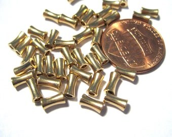 50pcs Brass Spacer Beads Drum Spacer Beads (No.64)