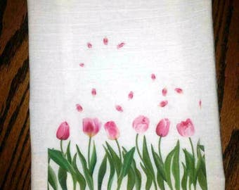 Kitchen Flour Sack Towel Tulips