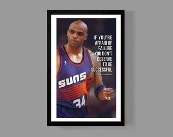 Charles Barkley Quote Poster Basketball Print - Success - Inspirational, Sports, Motivation, faith, Icon