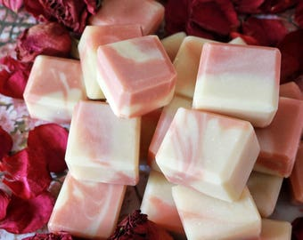Jasmine & Roses Floral Minis / travel soap / wedding favor / natural soap / sensitive skin / mature skin soap / FREE pickup available