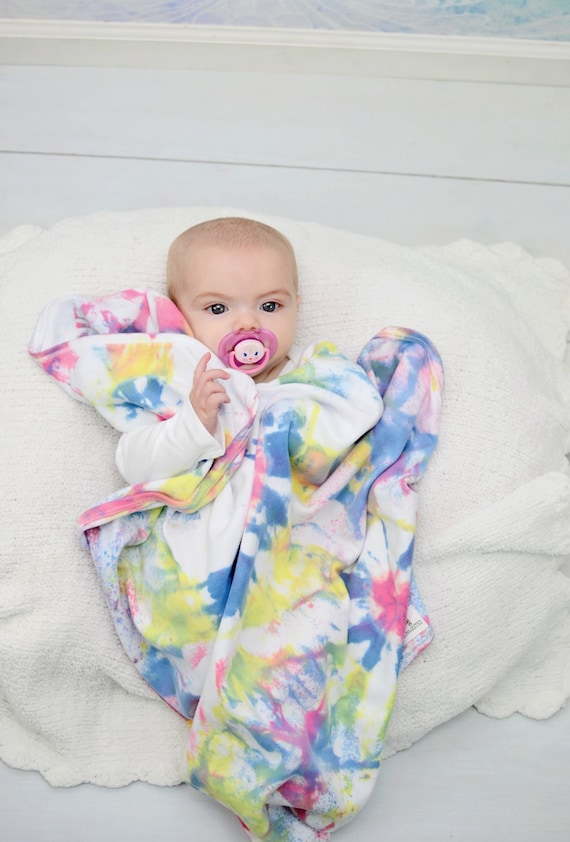 Baby Gifts For Hippie Parents : Tie dye receiving blanket baby shower gift hippie hipster