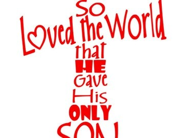John 3:16 Cross SVG File