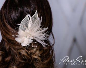 Hair flower lotus blossom bridal bride TikiWiki headpieces wedding chiffon flower from 208