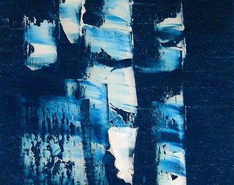 Original oil painting, minimal art 175 B