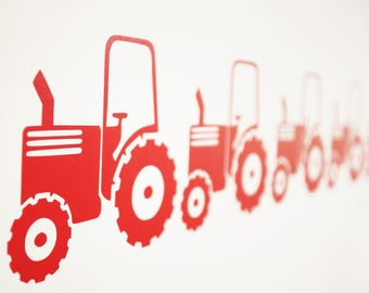 Tractor Farm Vinyl Wall Art Decals/Stickers - Various Colours