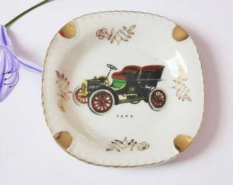Vintage Ford Car Ashtray / Trinket / Pin Dish, Mid Century, Kitsch Decor, Retro Tobacciana, 1950s, Man Cave, Decorative Dish, Gift For Him