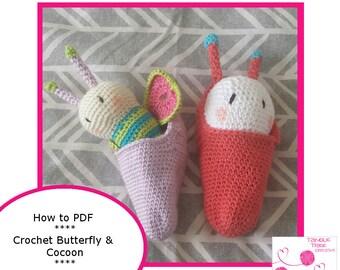 Butterflyand snuggle Cocoon Crochet PDF Pattern