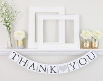 Thank You Sign - Thank You Banner - Wedding Banner - Custom Sign for Wedding - Wedding Photo Prop