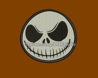 Jack Skellington Machine Embroidery Design - 6 Sizes - INSTANT DOWNLOAD