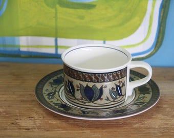 "Vintage Mikasa Intaglia  ""Arabella""  Cup and saucer Duo"