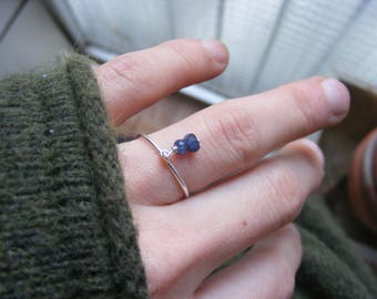 Natural Sapphire Handmade Silver Ring