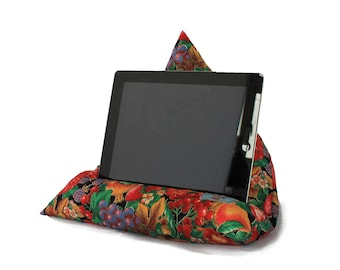 IPAD Cushion Tablet Pillow Kindle Stand E-reader Mothers Day Fruit Flowers Red TV in Bed Bean Bag Desk Accessory Floral Garden Gift Birthday