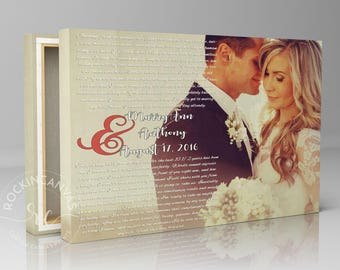 Christmas Gift, Wedding Vows Framed, Vows Canvas Framed Vows, Personalized Wedding Canvas, 1st Anniversary canvas gift for wife