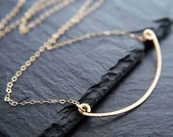 Gold Bar Necklace, Gold Bar Pendant Necklace, Gold Filled Necklace, Gold Chain Necklace, Gold Pendant Necklace, Simple, Minimalist, Modern