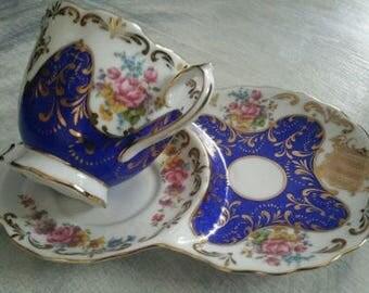 Vintage Tea Tennis Set Cup Saucer Fine Porcelain China