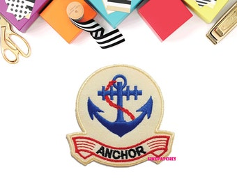 Anchor - Cute Patch - New Sew / Iron On Patch Embroidered Applique Size 7cm.x6.8cm.