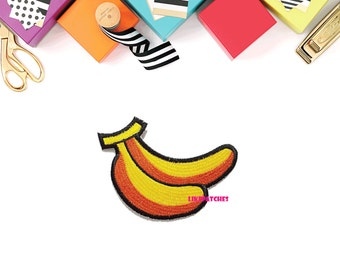 Banana Fruit Patch - Fruit New Sew on / Iron On Patch Embroidered Applique Size 8.7cm.x5.9cm.
