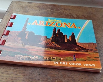 Vintage 50's Spiral Mini Postcard book Northern Arizona 4x3''