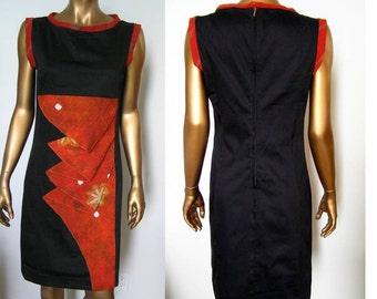 Black Origami Dress Avant Garde Modern XS