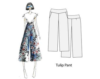 Tulip pant, sizes 8-16, sewing pattern for women, pattern for sewing, pdf sewing patterns, womens sewing pattern, sewing patterns, sewing