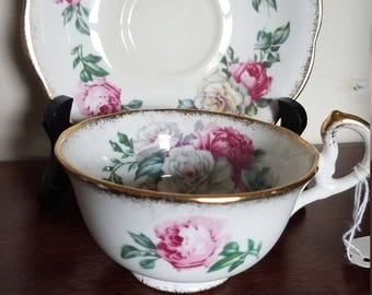 Royal Standard Teacup and Saucer in the Irish Elegance pattern