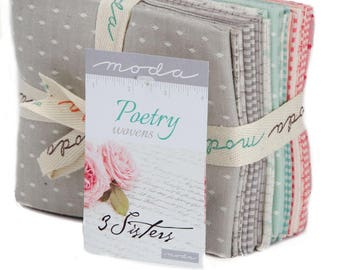 Poetry Wovens by 3 Sisters for Moda Fat Quarter Bundle 15 fq